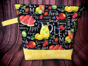 Large project bag Taste of Summer by The Handmaker's Bag
