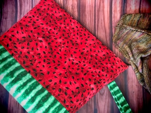 Watermelon Project Bag by The Handmaker's Bag